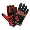 HexArmor 4022-7 Cut Resistant Gloves, Red/Black, S, PR