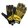 HexArmor 4025-9 Cut Resistant Gloves, Yellow/Black, L, PR