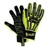 HexArmor 2021 10/XL Cut Resistant Gloves, Yellow/Black, XL, PR