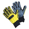 Impacto WGRIGGM Anti-Vibration Gloves, M, Black/Yellow, PR