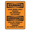 Accuform Signs SBMSMK027VA Warning No Smoking Sign, 14 x 10In, BK/ORN