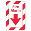 United Visual Products UVOS1054 Fire Alarm Sign, 9 x 6In, R/WHT, ACRYL, ENG