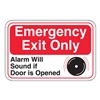 United Visual Products UVOS1056 Emergency Exit Sign, 6 x 9In, R and BK/WHT
