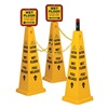 Tough Guy 6VKR9 TRFC Cone Kit, Wet Floor, Yellow