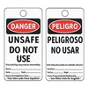 Electromark 5044-C-B Danger Bilingual Tag, 5-3/4 x 3 In, PK25