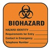 Brady 22350LS Biohazard Label, Write Info, 100 PK