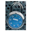 Master Lock 1506D Combination Padlock, Blue/Chrome