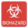 Sign Comply 42295-3 DOLPHIN GRAY Biohazard Sign, 5-1/2 x 5-1/2In, SYM, SURF