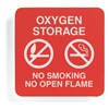 Sign Comply 42297-15 RED No Smoking Sign, 5-1/2 x 5-1/2In, WHT/R