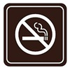 Intersign 62184-18 TAN No Smoking Sign, 5-1/2 x 5-1/2In, WHT/Tan