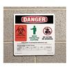 Prinzing LH625E Biohazard Sign, Vinyl, PK25