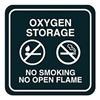 Intersign 62199-18 TAN No Smoking Sign, 5-1/2 x 5-1/2In, WHT/Tan