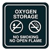Intersign 62199-12 JADE No Smoking Sign, 5-1/2 x 5-1/2In, WHT/Jade