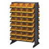 Quantum QPRD-100YL Sloped Shelving, 4Hx2-3/4Wx11-7/8D