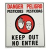Voss D200 Danger Sign, 16 x 14In, BK and R/WHT, AL