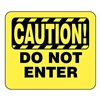 Glaro S18-Y-12 BARRIER POST SIGN CAUTION DO NOT ENTE