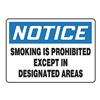 Accuform Signs MSMK826VA No Smoking Sign, 10 x 14In, BL and BK/WHT