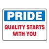 Accuform Signs MQTL908VS Quality Control Sign, 7 x 10In, ENG, Text