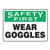 Accuform Signs MPPE928VS Caution Sign, 7 x 10In, BK and GRN/WHT, ENG