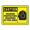 Accuform Signs MPPE409VP Caution Sign, 10 x 14In, BK/YEL, PLSTC, ENG