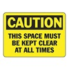 Accuform Signs MVHR671VS Caution Sign, 7 x 10In, BK/YEL, Self-ADH