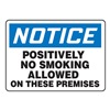 Accuform Signs MSMK819VP Notice No Smoking Sign, 7 x 10In, PLSTC
