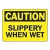 Accuform Signs MSTF640VA Caution Sign, 7 x 10In, BK/YEL, AL, ENG, Text