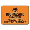 Accuform Signs MBHZ507VP Biohazard Sign, 7 x 10In, BK/ORN, PLSTC