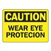 Accuform Signs MPPE736VP Caution Sign, 10 x 14In, BK/YEL, PLSTC, ENG