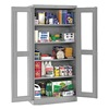 Tennsco CVDJ2478SU MED GREY Storage Cabinet, 4 Shelves, 78x48