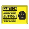Accuform Signs SBMPPE409MVA Caution Sign, 10 x 14In, BK/YEL, AL, SURF