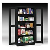 Tennsco CVD7224 BLACK Storage Cabinet, 24 x 36 x 72 In, Black