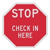 Lyle ST-036-12HA Stop Sign, 12 x 12In, WHT/R, AL, ENG, Text
