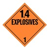Stranco Inc DOTP-0100-PS Vehicle Placard, 1.4 Explosive
