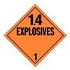 Stranco Inc DOTP-0100-PS Vehicle Placard, 1.4 Explosive
