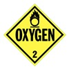 Stranco Inc DOTP-0035-T10 Vehicle Placard, Oxygen with Picto, PK10