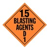 Stranco Inc DOTP-0101-V10 Vehicle Placard, 1.5 Blasting Agent, PK10