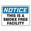 Accuform Signs MSMK849VS Notice No Smoking Sign, 10 x 14In, ENG