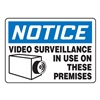 Accuform Signs MASE801VA Notice Security Sign, 10 x 14In, AL, ENG