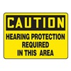 Accuform Signs MPPE675VP Caution Sign, 7 x 10In, BK/YEL, PLSTC, ENG