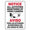 Accuform Signs SBMASE809VA Notice Security Sign, 14 x 10In, AL, SURF