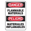 Accuform Signs SBMCHG052VS Danger Sign, 14 x 10In, R and BK/WHT, Text
