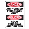 Accuform Signs SBMADM006VS Danger Sign, 14 x 10In, R and BK/WHT, Text