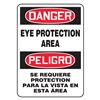 Accuform Signs SBMPPE122VS Danger Sign, 14 x 10In, R and BK/WHT, Text