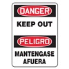 Accuform Signs SBMADM146VS Danger Sign, 14 x 10In, R and BK/WHT, Text