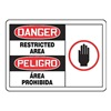 Accuform Signs SBMADM160MVA Danger Sign, 10 x 14In, R and BK/WHT, AL