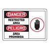 Accuform Signs SBMADM159MVP Danger Sign, 7 x 10In, R and BK/WHT, PLSTC