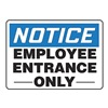 Accuform Signs MADM830VS Employee Entrance Sign, 10 x 14In, ENG