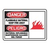 Accuform Signs SBMCHL096MVS Danger Sign, 10 x 14In, R and BK/WHT, SURF