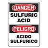 Accuform Signs SBMCHG014VA Danger Sign, 14 x 10In, R and BK/WHT, AL
